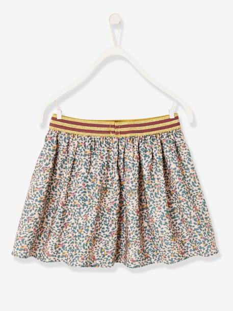 Printed Skirt, for Girls PINK LIGHT ALL OVER PRINTED - vertbaudet enfant