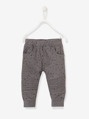 Vertbaudet - Trousers girls boys and babys-Fleece trousers for Baby Boys
