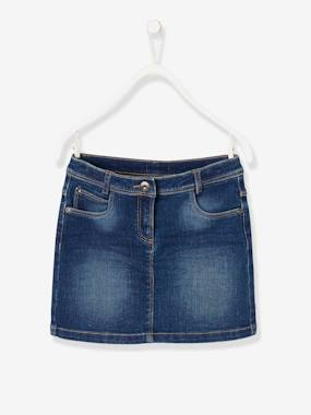 Vertbaudet Collection-Girls-Skirts-Girls' Denim Skirt