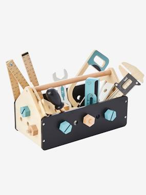 Toys-Wooden Construction Tool Box