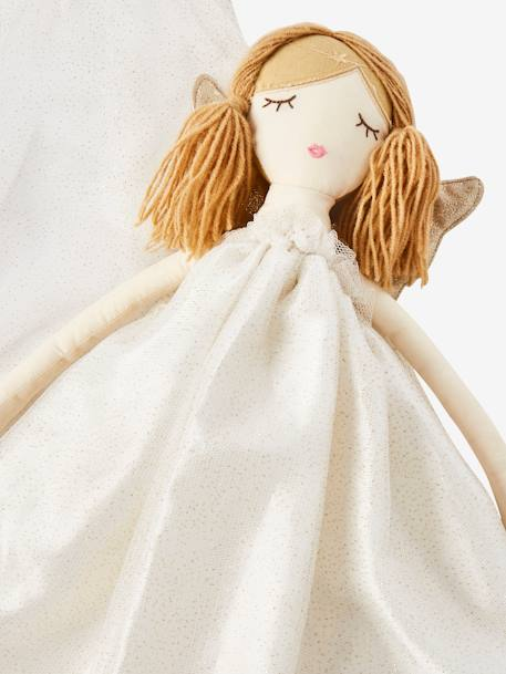 Doll with Fairy Wings WHITE MEDIUM SOLID WITH DESIGN - vertbaudet enfant