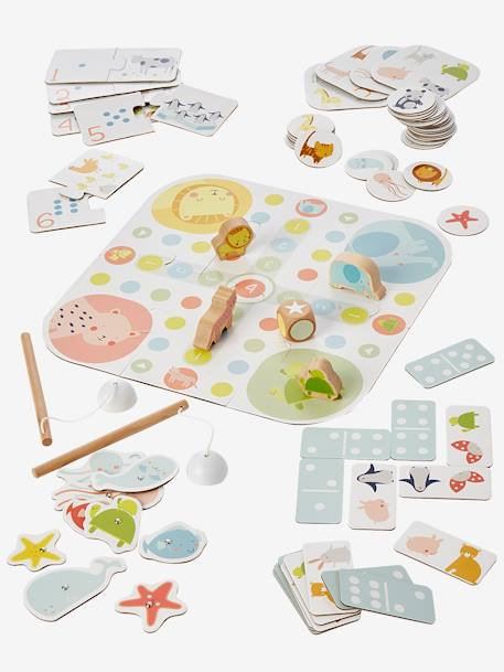 My First Games Set BLUE MEDIUM SOLID WITH DESIGN - vertbaudet enfant