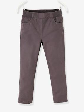 Vertbaudet Collection-Girls-Trousers-Indestructible Trousers Lined in Polar Fleece, for Girls