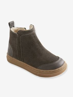 Shoes-Leather Boots, for Baby Boys