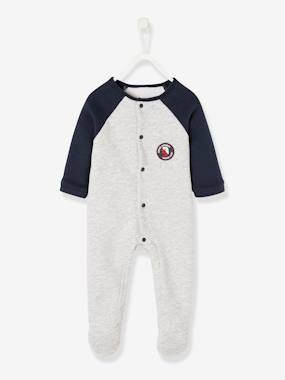 Vertbaudet Collection-Baby-Pyjamas-Fleece Sleepsuit with Press-Studs on the Front, for Babies