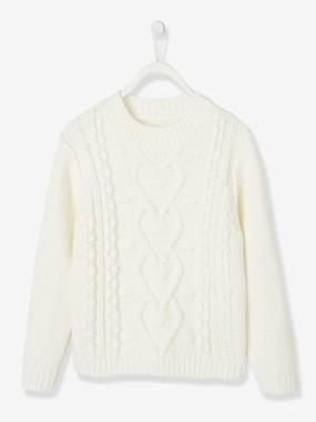Girls-Cardigans, Jumpers & Sweatshirts-Cable Knit Jumper, for Girls