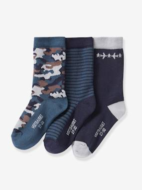 Boys-Underwear-Pack of 3 Pairs of Socks, for Boys