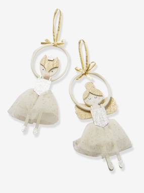 Bedding & Decor-Decoration-Set of 2 Ballerinas to Hang on Christmas Tree