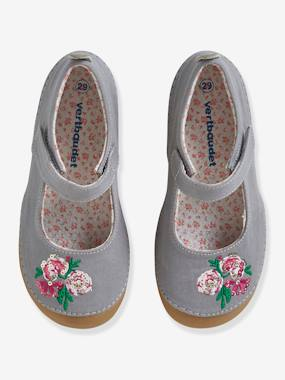 Chaussures-Chaussures fille 23-38-Chaussons scratchés fille en toile