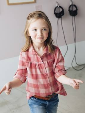 Vertbaudet Collection-Girls-Plaid Shirt for Girls