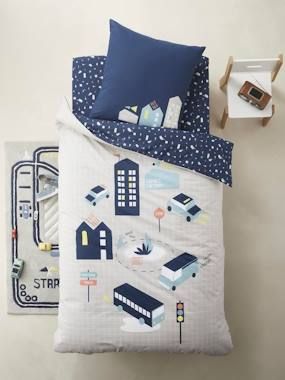 Bedding & Decor-Child's Bedding-Children's Duvet Cover + Pillowcase Set, CITY