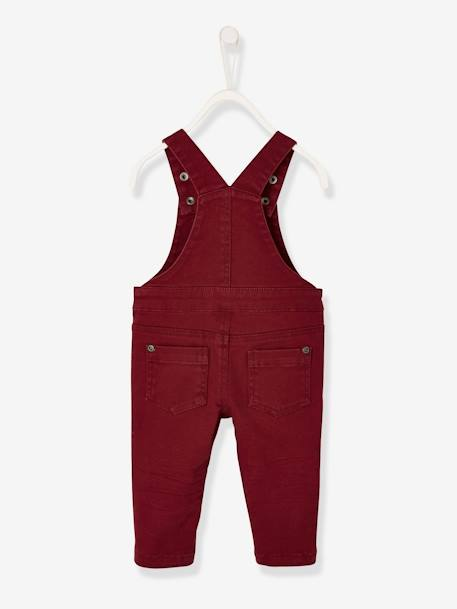 Twill Dungarees for Baby Boys BROWN MEDIUM SOLID - vertbaudet enfant