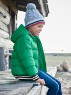 Jacket with Hood & Patch in Bouclé, for Boys  - vertbaudet enfant