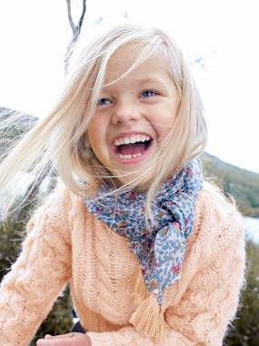 Vertbaudet Collection-Girls-Cardigans, Jumpers & Sweatshirts-Cable Knit Jumper, for Girls