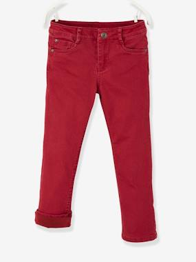 Vertbaudet - Trousers girls boys and babys-Straight Leg Trousers with Lining, for Boys