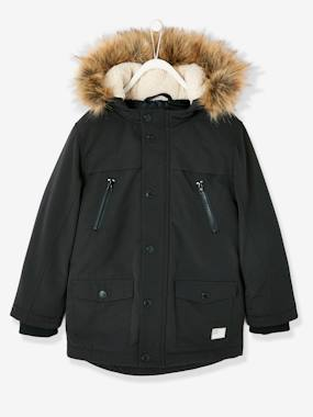 Vertbaudet Collection-Boys-Parka with Hood, for Boys