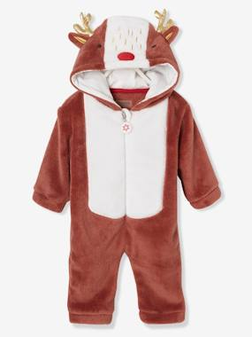 Baby-Dungarees & All-in-ones-Christmas Reindeer Jumpsuit, for Babies