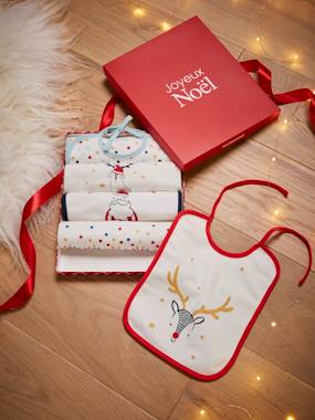 Nursery-Gift Box with 5 Classic Bibs, Délices Étoiles