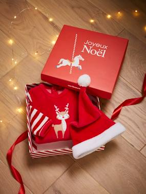 Christmas collection-Baby-Sleepsuit & Beanie Gift Box, for Babies