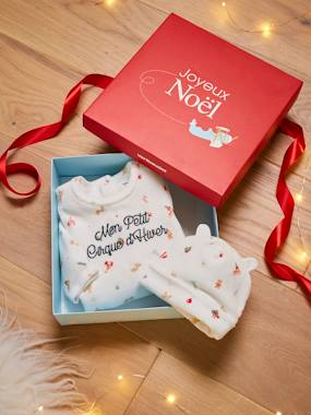 Vertbaudet Collection-Baby-Christmas Box with Sleepsuit + Beanie, Mon petit cirque d'hiver