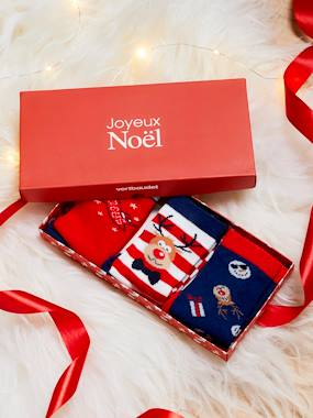 Gift boxes-Gift Box with 3 Pairs of Merry Christmas Socks, for Boys