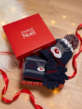 Boys-Accessories-Winter Hats, Scarves & Gloves-Gift Box with 'Small Reindeer' Accessories, for Boys