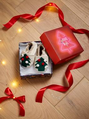 Christmas collection-Shoes-Soft Leather Booties for Newborn Babies, Christmas Theme