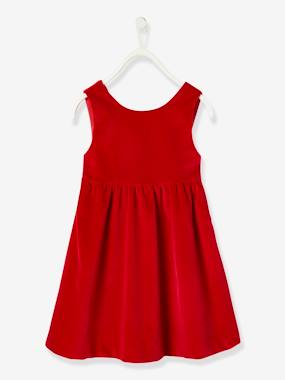 Vertbaudet Collection-Girls-Velour Dress for Girls