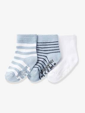 Baby-Socks & Tights-Pack of 3 Pairs of Non-Slip Baby Socks