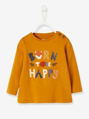 Baby-T-shirts & Roll Neck T-Shirts-Stylish Top with Message, for Baby Girls