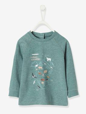 Baby-T-shirts & Roll Neck T-Shirts-Fancy Long-Sleeved T-Shirt for Baby Boys