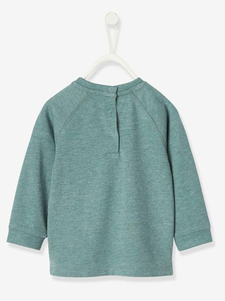 Fancy Long-Sleeved T-Shirt for Baby Boys GREEN DARK MIXED COLOR - vertbaudet enfant