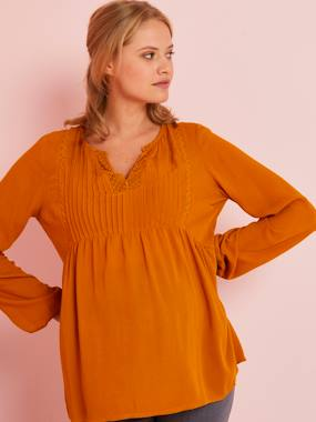 Maternity-Blouses, Shirts & Tunics-Long-Sleeved Maternity Blouse
