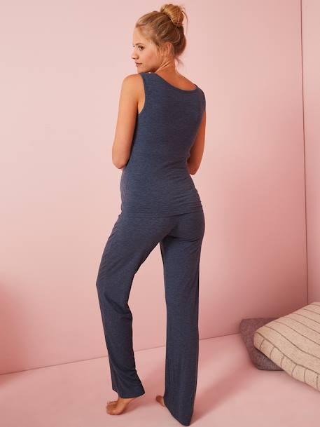 2-Piece Loungewear Set, Nursing & Maternity Special BLUE DARK SOLID - vertbaudet enfant
