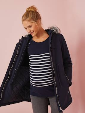 Vertbaudet Collection-Maternity-3-in-1 Adaptable Maternity & Post-Maternity Parka