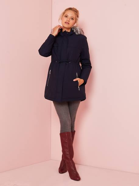 3-in-1 Adaptable Maternity & Post-Maternity Parka BLACK DARK SOLID+BLUE DARK SOLID+GREEN DARK SOLID - vertbaudet enfant