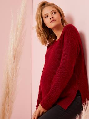 Maternity-Knitwear-Knitted Tunic-Type Jumper for Maternity