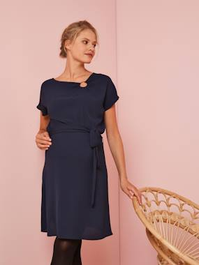 Maternity-Dresses-Short-sleeved Maternity Dress