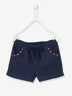 Baby-Shorts-Shorts in Woollen Fabric, for Baby Girls