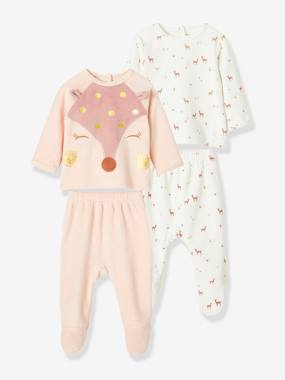 Christmas collection-Baby-Pack of 2 Two-Piece Velour Pyjamas for Babies