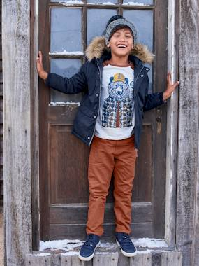 Vertbaudet Collection-Boys-Reversible Parka/Jacket, for Boys