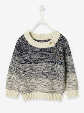 Baby-Jumpers, Cardigans & Sweaters-Stylish Marl Jumper, for Baby Boys