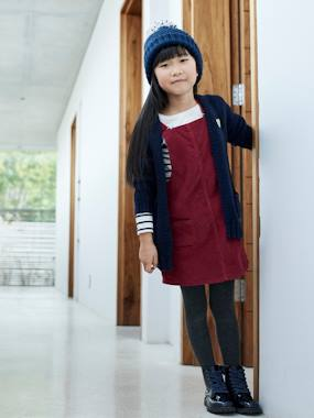 Vertbaudet Collection-Corduroy Dungaree Pinafore Dress, for Girls