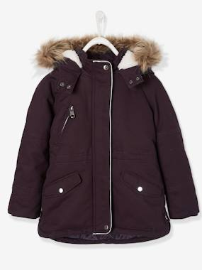 Girls-Coats & Jackets-Parka with Hood, for Girls