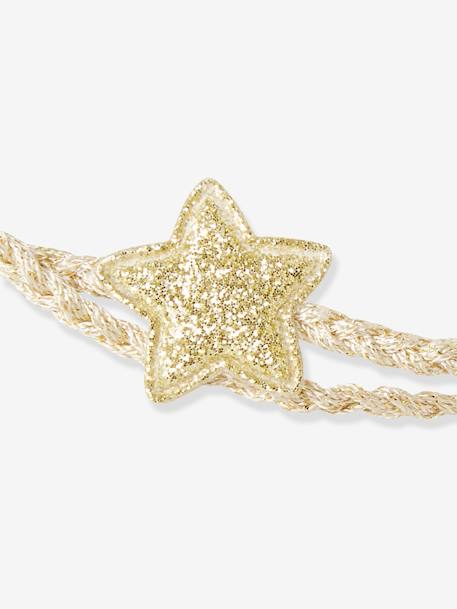 Double-Braided Headband with 2 Stars BEIGE MEDIUM SOLID WITH DECOR - vertbaudet enfant