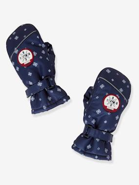 Boys-Ski Gloves with Snowflake Motif, for Boys