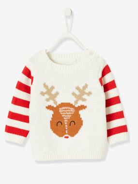 Baby-Christmas Special Jumper, Reindeer Motif, for Baby Boys