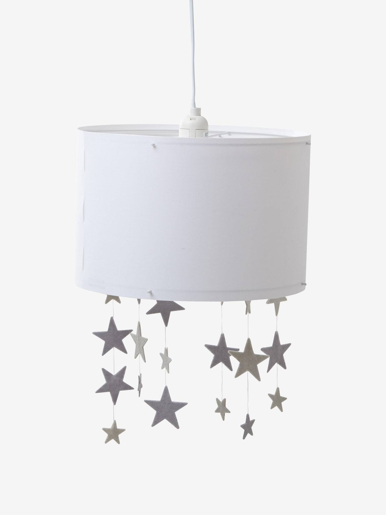 Stars Hanging Lampshade White Grey Bedding Decor