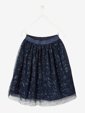 Girls-Glittery Tulle Skirt, for Girls