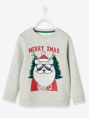 Christmas collection-Boys-Sweatshirt with Raccoon Motif & Fun Details in Relief for Boys